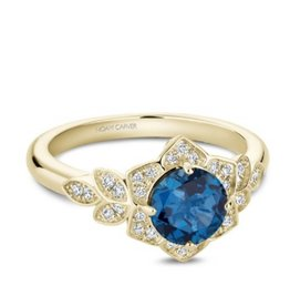 Noam Carver Noam Carver Yellow Gold London Blue Topaz & Diamond Ring
