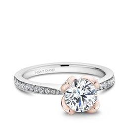 Noam Carver Noam Carver White and Rose Gold Diamond Mount Ring