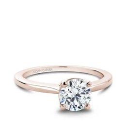 Noam Carver Noam Carver Rose Gold Solitare Mount Ring
