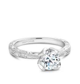 Noam Carver Noam Carver White Gold Solitare Mount Filigree Ring