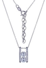 Reign Reign Adjustable Sterling Silver Double CZ Fancy Necklace