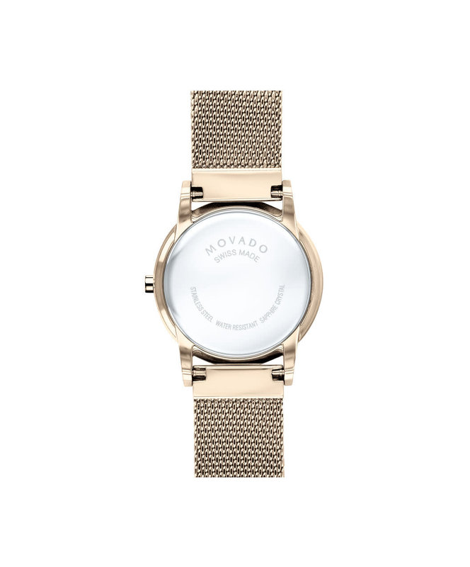 Movado Movado Museum Classic Ladies Rose Tone Watch with Mother of Pearl Dial.