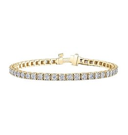 Yellow and White Gold (1.00ct) Diamond Tennis Bracelet