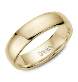 18K Yellow Gold 6mm Dome Band