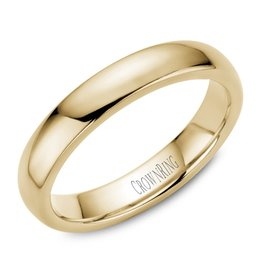 18K Yellow Gold 4mm Dome Band