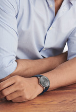 Movado Movado BOLD Evolution Blue Leather Watch with Grey Dial.