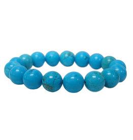 Turquoise Stretch Beaded Bracelet (6mm)