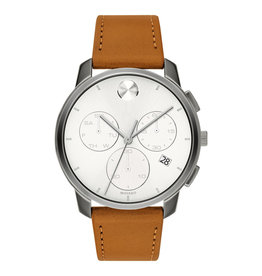 Movado Movado Mens Thin Light brown Leather Watch and Chronograph