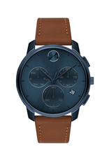 Movado Movado Bold Mens Thin brown Leather Watch and Chronograph