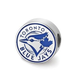 MLB Licensed MLB Licensed Toronto Blue Jays Enameled Bead Sterling Silver