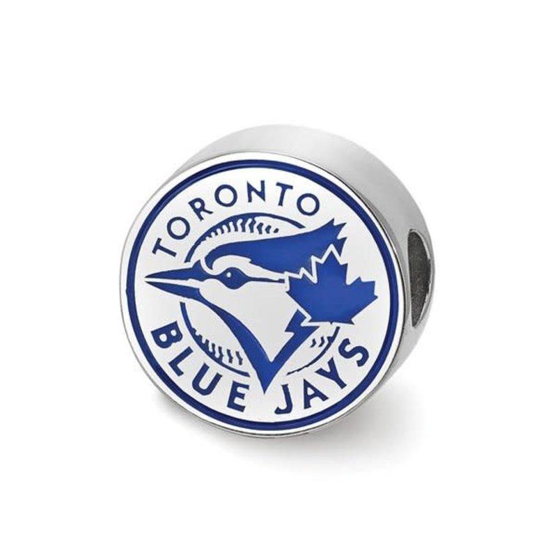 MLB Licensed MLB Licensed Toronto Blue Jays Enameled Bead Sterling Silver