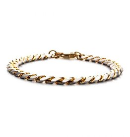 Inox Stainless Steel Gold Plated (8mm) Curb Link Bracelet