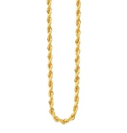 Inox Stainless Steel Gold Plated (3.7mm) French Rope Chain 30""