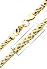 Inox Stainless Steel Gold Plated (5.7mm) Spiga Chain 22""