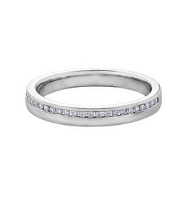 10K White Gold (0.12ct) Diamond Band