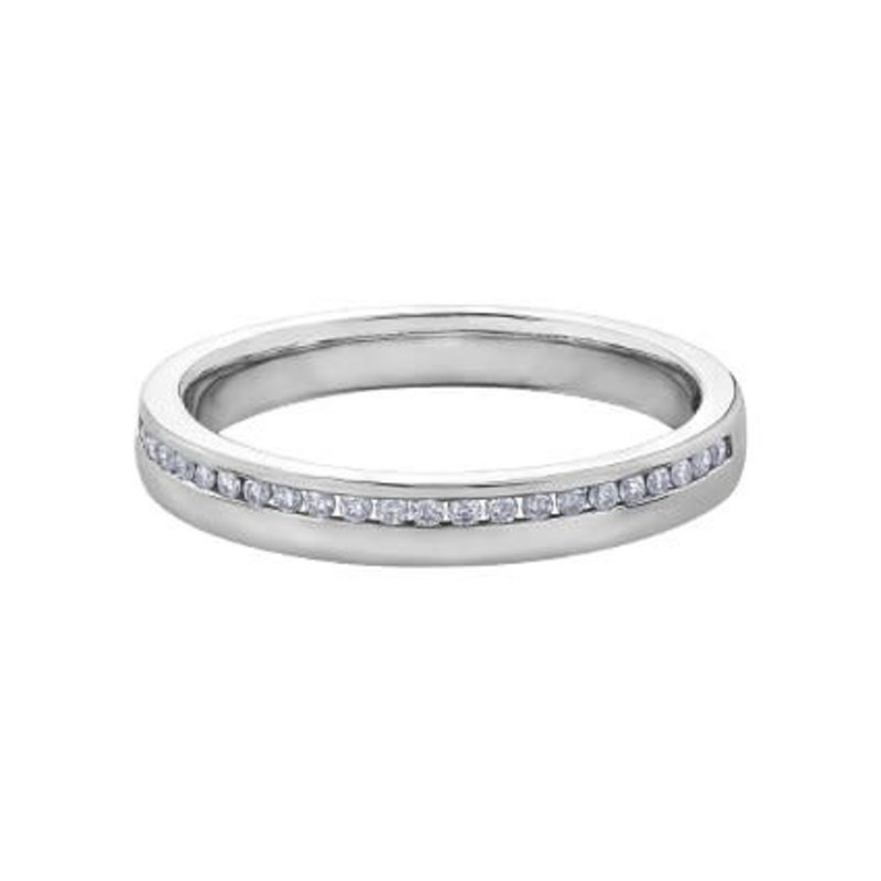 White Gold Ladies (0.12ct) Diamond Wedding Band