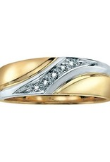 Yellow and White Gold Diamond Mens Ring