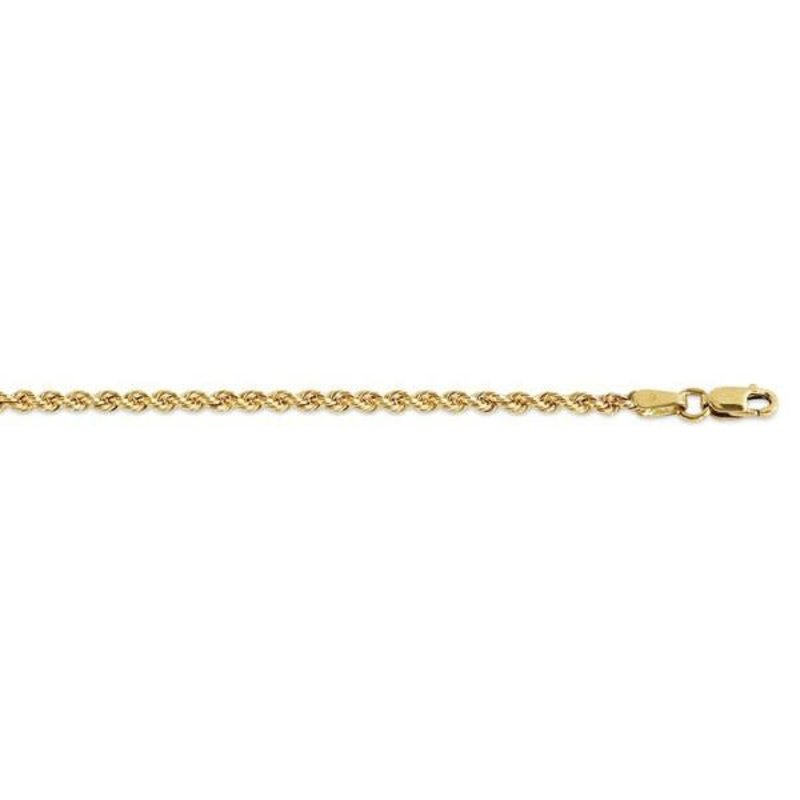 """10K Yellow Gold (3mm) Hollow Rope Chain (20"""" - 24"""")"""