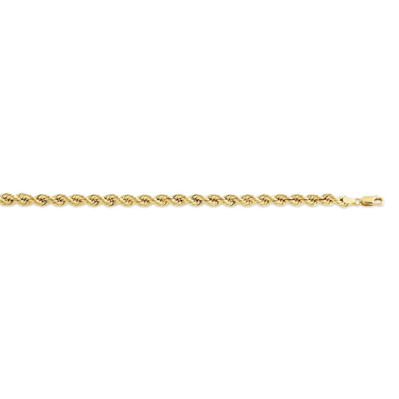 Yellow Gold (24 - 28in) Hollow 7mm Rope Chain