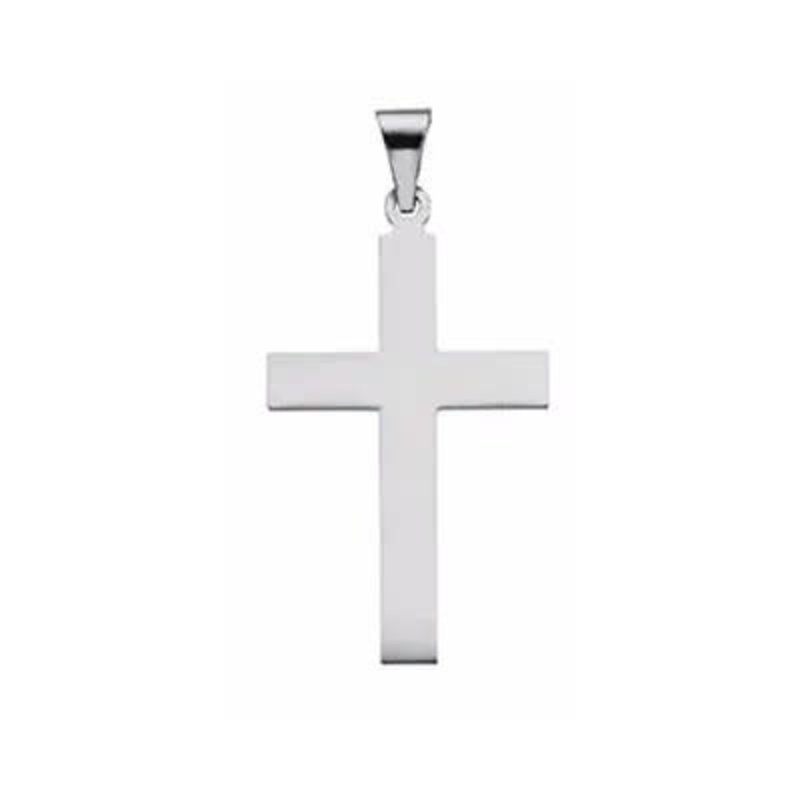 Sterling Silver High Polished Large Cross Pendant