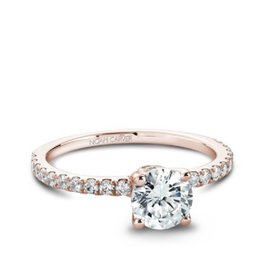 Noam Carver Noam Carver Rose Gold Diamond Mount Ring