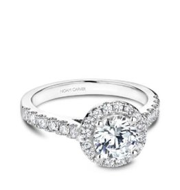 Noam Carver Noam Carver White Gold Diamond Halo Mount Ring