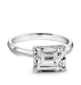 Noam Carver Noam Carver 14K White Gold Solitare Mount Ring