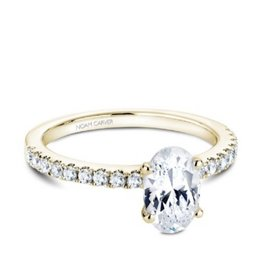 Noam Carver Noam Carver Yellow Gold Oval Diamond Semi Mount