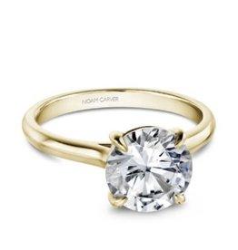 Crown Ring Noam Carver Yellow Gold Diamond Mount (10K, 14K, 18K)