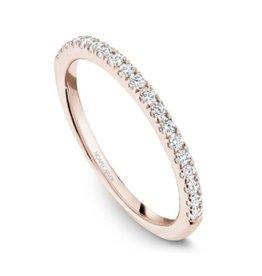 Noam Carver Rose Gold Diamond Matching Engagement Ring Band