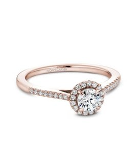 Noam Carver Noam Carver Halo Diamond Ring (0.50ct) 14K Rose Gold