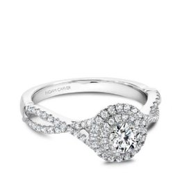 Noam Carver Noam Carver White Gold Diamond Double Halo Ring