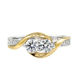 White and Yellow Gold Canadian Diamond Perfect Together Ring