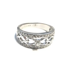 White Gold Diamond Fancy Right Hand Ring