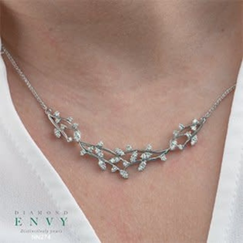 10K White Gold (1.00ct) Fancy Diamond Necklace