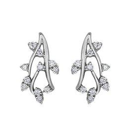White Gold Fancy Diamond Earrings