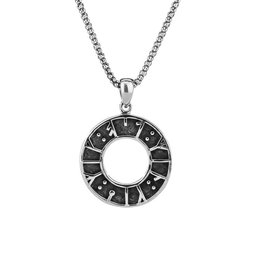 Keith Jack Keith Jack Sterling Silver Oxidized Rune Pendant