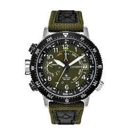Citizen Citizen PROMASTER ALTICHRON Eco Drive Mens Green Strap Watch