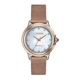 Citizen Citizen Ladies Ceci Rose Tone Watch With Diamonds & Mother of Pearl Dial