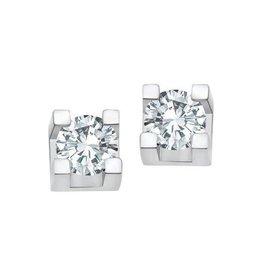 White Gold (0.10ct) Diamond Stud Earrings