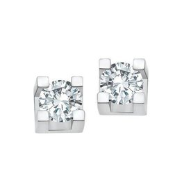 White Gold (0.40ct) Diamond Stud Earrings