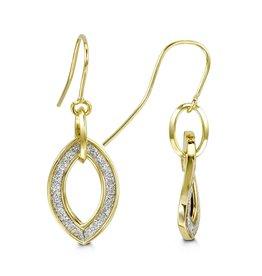 Glam Yellow Gold Dangle Earrings
