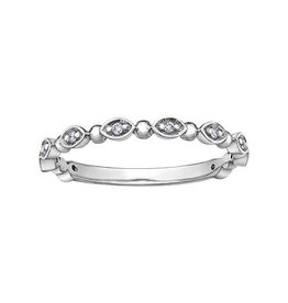 10K White Gold Diamond Stackable Ring (0.06ct)