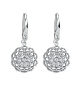 Gabriel & Co 14K White Gold Diamond Dangle Earrings (0.25ct)