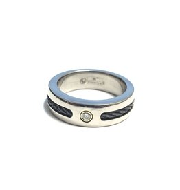 Size 10 Titanium 18K Diamond Wedding Band