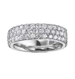 White Gold Diamond Pavee Anniversary Band