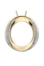 10K Yellow Gold Diamond (0.23ct) Circle Pendant