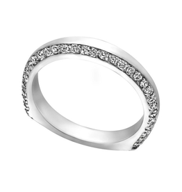 14K White Gold Diamond (0.60ct) Band
