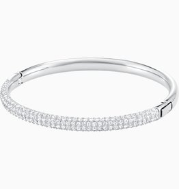 Swarovski Swarovski Stone Bangle, White Rhodium Plated
