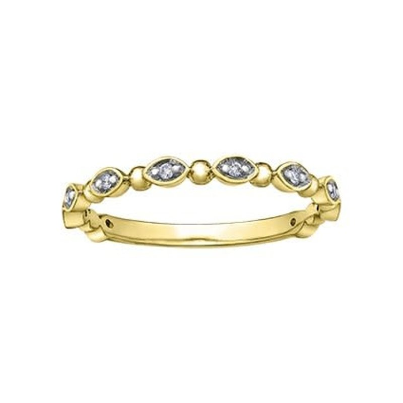 10K Yellow Gold Diamond Stackable Ring (0.06ct)